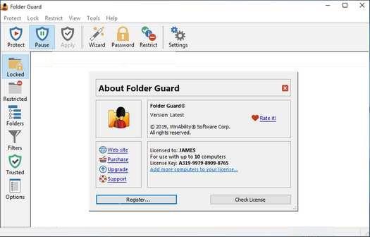 Folder Guard 20.1 Crack With License Key 2020 Free Download