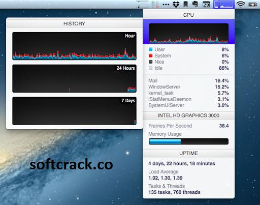 iStat Menus 6.60 Crack With License Key 2021 Free Download