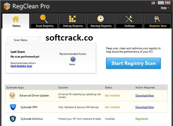 SysTweak Regclean Pro 8.40.81 Crack With License Key 2021 Full Free